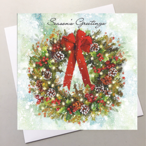 welcome wreath card