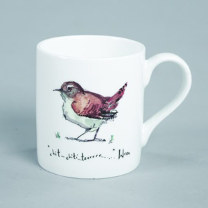 wren bird mug