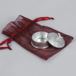 wren pewter trinket box