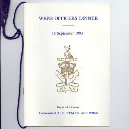 Dining our the last Commandant WRNS