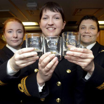 Lieutenants Maxine Stiles, Alex Olsson and Penny Thackray