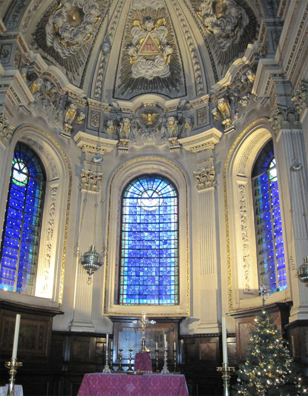 Interior of St Mary le Strand